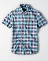 American Eagle Outfitters AE Short Sleeve Plaid Shirt