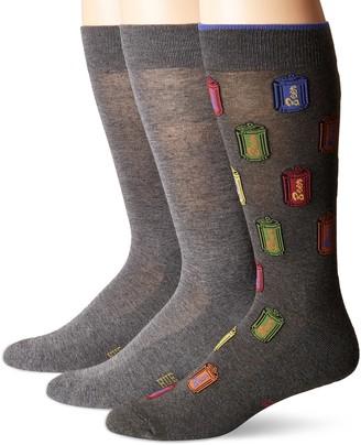Hue Men's Assorted Crew Socks (3-Pack)