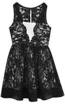 Rare Editions Girl's Lace Scallop Dress
