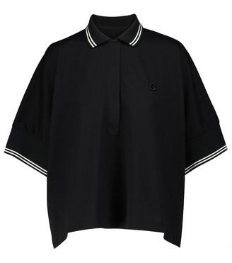 Sacai Cotton polo shirt