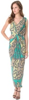 T-Bags Tbags los angeles Ruched Maxi Dress