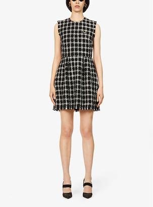 Valentino Tweed sleeveless wool-blend mini dress