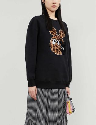 Mini Cream Graphic appliqu? cotton-blend jersey sweatshirt