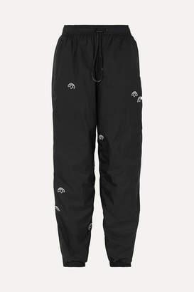 adidas By Alexander Wang By Alexander Wang - Appliqued Shell Track Pants - Black