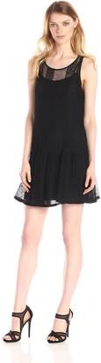 BCBGeneration Women's Sheer Drop-Waist Dress