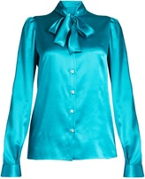 Dolce & Gabbana Tie-neck long-sleeved satin blouse