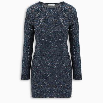 Saint Laurent Sequin fitted dress