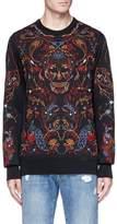 Alexander McQueen Botanical skull embroidered sweatshirt