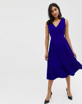 Closet London Closet Full Skirt Dress-Blue