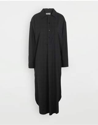 Maison Margiela Check Wool Shirt-Dress