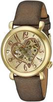 Stuhrling Original Women's Bronze Leather Watch 109.1235E31