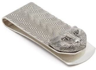 Gucci Cat Head Money Clip - Silver