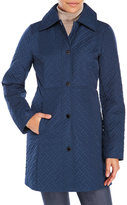Anne Klein Quilted Button Front Jacket