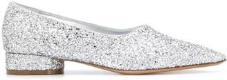 Maison Margiela glitter-embellished moccasins