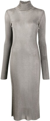 Thierry Mugler Metallic-Knit Dress