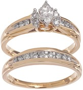 Lovemark Marquise-Cut Diamond Engagement Ring Set in 14k Gold (1/2 ct. T.W.)