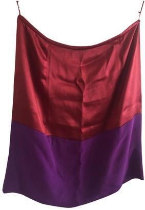 Balenciaga Burgundy Silk Skirts