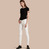 Burberry Skinny Fit Low-Rise White Jeans