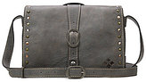 Patricia Nash Washed Denim Collection Montova Studded Cross-Body Bag