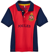 Joules Little Joule Boys' Junior Harry Panel Polo Shirt, Red