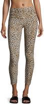 Norma Kamali Cropped Leopard-Print Leggings, Multi Pattern