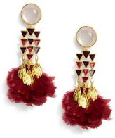 Tory Burch Feather Chandelier Earring