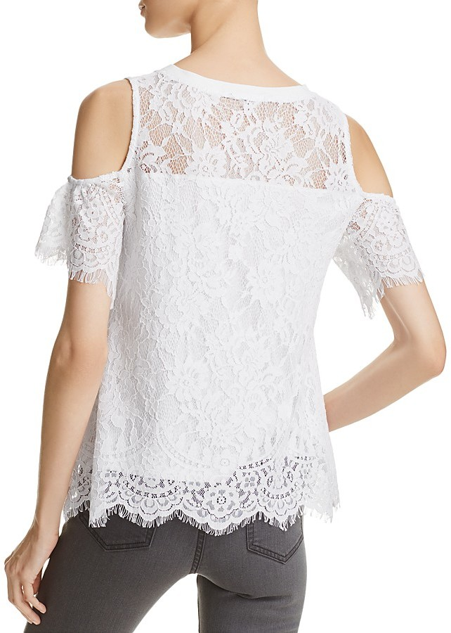 Generation Love Libby Cold-Shoulder Lace Top