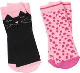 Gymboree Black & Pink Cat Two-Pair Socks Set - Infant & Toddler
