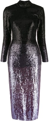 Temperley London Opia ombre-effect sequinned dress