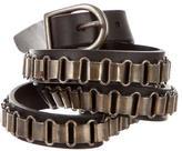 Isabel Marant Leather Chain-Link Waist Belt