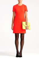 Diane von Furstenberg Yazmine Fitted Jersey Dress In Atomic Orange