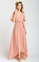 MUMU Sophia Wrap Dress ~ Rustic Mauve
