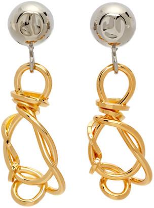 Marni Gold Twisted Earrings