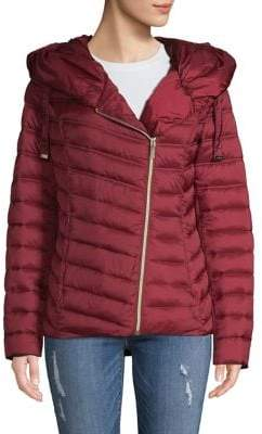 Laundry by Shelli Segal Asymmetrical Packable Puffer Coat