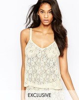 Wolfwhistle Wolf & Whistle Lace Open Back Cami Top