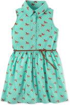 Carter's Horse-Print Belted Shirtdress, Little Girls (2-6X) & Big Girls (7-16)
