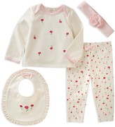 Kate Spade Girls' Top, Pants, Bib & Headband Set