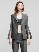 Calvin Klein Collection Wool + Silk Chine Patch Pocket Blazer