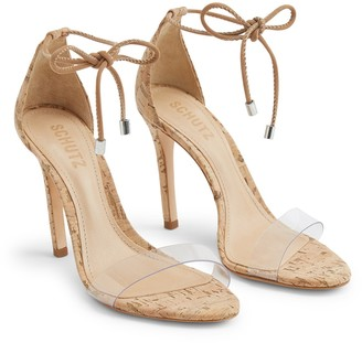 Schutz Josseana Clear Strap Stiletto Sandal