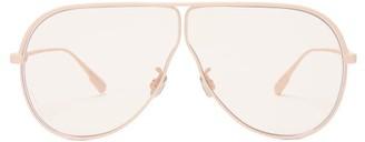 Christian Dior Diorcamp Navigator Rubber-coated Metal Sunglasses - Light Pink