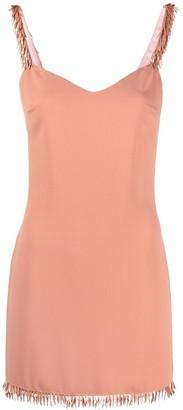 Elisabetta Franchi Tassel-Trim Slip-Style Dress