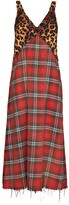 Thumbnail for your product : R 13 Grunge plaid slip dress