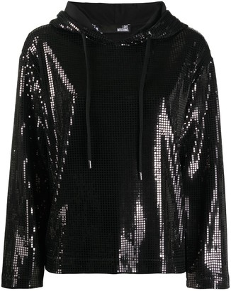Love Moschino Shimmer Effect Hoodie