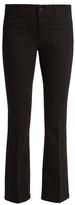 Stella McCartney Low-rise skinny kick-flare cropped jeans