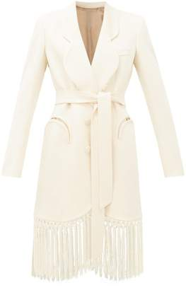 BLAZÉ MILANO Sunshine Tie-waist Tasselled Crepe Evening Jacket - Womens - Ivory