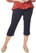 Evans Plus Size Women's Tie Belt Crop Pants