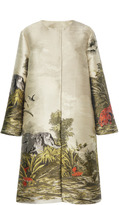 Alberta Ferretti Printed Long Jacket