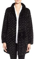 Eliza J Women's Faux Persian Lamb Fur A-Line Coat