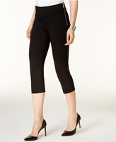 INC International Concepts Petite Zipper-Detail Cropped Pants, Only at Macy's