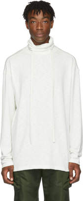 D.gnak By Kang.d White High Neck String Turtleneck